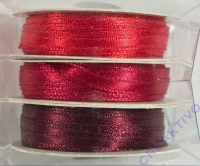 Rayher Satinband 3mm 3 x 6m Rot-Töne