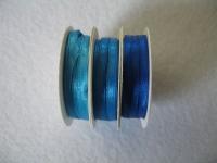 Rayher Satinband 3mm 3 x 6m Blau-Töne