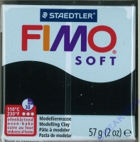 Fimo Soft Modelliermasse 57g schwarz