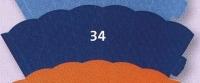 kleine Schultüte aus 3D Wellkarton 35cm blau