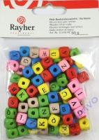 Holz-Buchstabenwürfel 10x10mm 50g