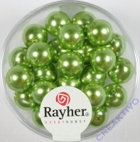 Renaissance Glaswachsperlen, 8 mm ø jade