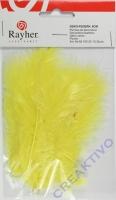 Deko-Federn 8cm 10 Stück gelb
