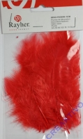 Deko-Federn 8cm 10 Stück rot