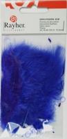 Deko-Federn 8cm 10 Stück dunkelblau