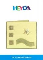 Heyda Bastelidee Nr. 6 - Weihnachtskarte