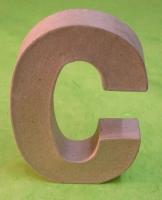 Rayher Pappmaché Buchstabe C - 15cm