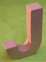 Rayher Pappmaché Buchstabe J - 15cm