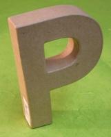 Rayher Pappmaché Buchstabe P - 15cm
