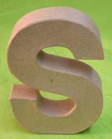 Rayher Pappmaché Buchstabe S - 15cm