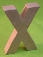 Rayher Pappmaché Buchstabe X - 15cm
