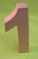 Rayher Pappmaché Zahl  FSC 1 - 15cm