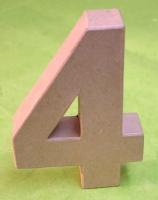 Rayher Pappmaché Zahl 4 - 15cm
