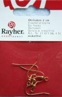 Rayher Ohrhaken 2cm 4 Stück gold