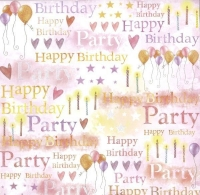 Premium Glitter Scrapbook paper Geburtstag 04