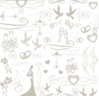 Premium Glitter Scrapbook paper Hochzeit 32