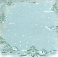 Premium Glitter Scrapbook paper Winter 61