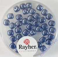 Renaissance-Würfel, 4,5x5 mm azurblau
