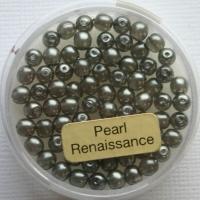 Crystal Renaissance Perlen 4mm grau