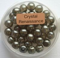 Crystal Renaissance Perlen 6mm grau