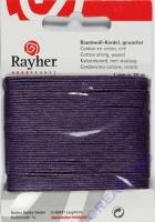 Baumwoll-Kordel gewachst 20m lila