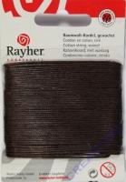 Baumwoll-Kordel gewachst 20m dunkelbraun