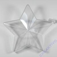 Plastik Stern zweiteilig 14cm