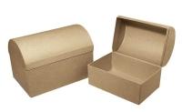 Pappmaché-Box Truhe FSC 15x10x10,5 cm