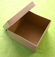 Pappmaché Dose Quadrat 12,5x12,5x8 cm