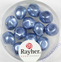 Renaissance-Perle, 9 mm ø azurblau