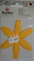 Stanzteil Blume Blüte ca. 75x94mm 6 Stück sonnengelb
