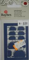 Laserstanzteil Igel 1 Bogen 76x50mm royalblau