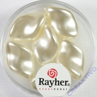Renaissance-Chips, 19x13 mm weiß