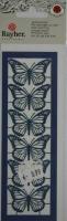 Laserstanzteil 6 Schmetterlinge 1 Bogen 153x50mm royalblau