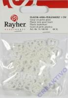Plastik-Mini-Perlenherzen 1cm 48 Stück