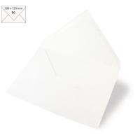 Kuvert B6 180x120mm 90g weiß