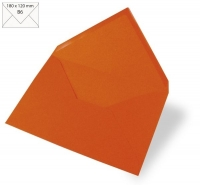 Kuvert B6 180x120mm 90g orange (Restbestand)