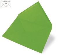 Kuvert B6 180x120mm 90g immergrün