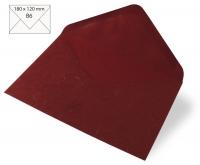 Kuvert B6 180x120mm 80g Japanseide weinrot (Restbestand)