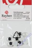 Wackelaugen 10mm 10 Stück rund