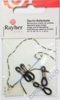 Rayher Öse für Brillenkette 4 Stück schwarz