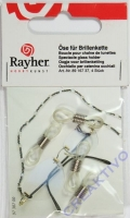Rayher Öse für Brillenkette 4 Stück transparent