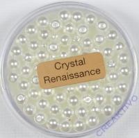 Crystal Renaissance Perlen 4mm weiss