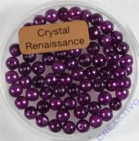 Crystal Renaissance Perlen 4mm lila