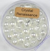 Crystal Renaissance Perlen 6mm weiss