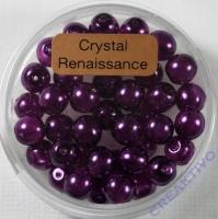 Crystal Renaissance Perlen 6mm lila