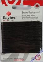 Baumwoll-Kordel gewachst 20m schwarz