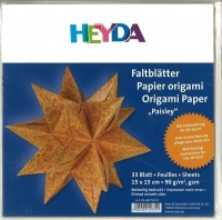 Heyda Faltblätter Origami Papier Paisley