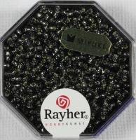 Premium-Rocailles, 2,2 mm ø mit Silbereinzug silbergrau