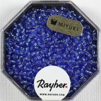 Premium-Rocailles, 2,2 mm ø mit Silbereinzug azurblau